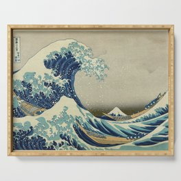 Great Wave Off Kanagawa (Kanagawa oki nami-ura or 神奈川沖浪裏) Serving Tray