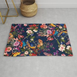 FLORAL AND BIRDS XII Rug