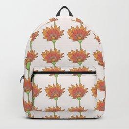 Gazania Floral Pattern Backpack
