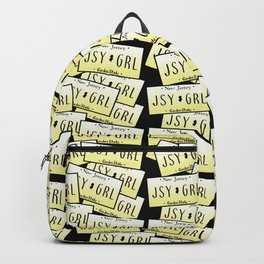 Jersey Girl NJ License Plate Backpack