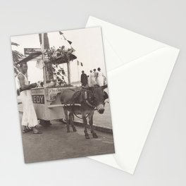 Vintage ice cream street vendor in Cannes France Stationery Cards