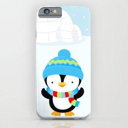 Cute penguin boy #1 iPhone Case