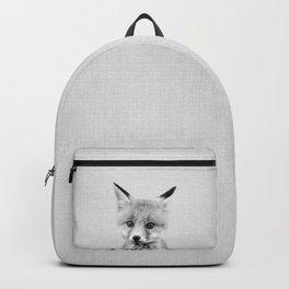 Baby Fox - Black & White Backpack