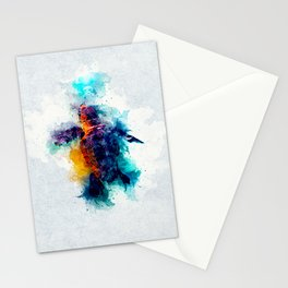 Baby Sea Turtle artistic watercolor Stationery Cards