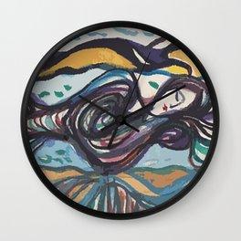 Leda and black swan Wall Clock