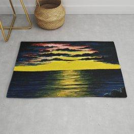 California Sunset by Granville Redmond Rug