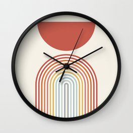 Minimalist lines and shapes no1 Wall Clock