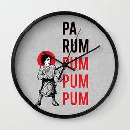 Drummer Boy Pa Rum Pum Pum Pum Wall Clock