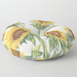 Blooming Sunflowers Floor Pillow