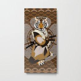 Tiger Samurai, Tiger Ronin, Iaido, Kenjutsu Metal Print