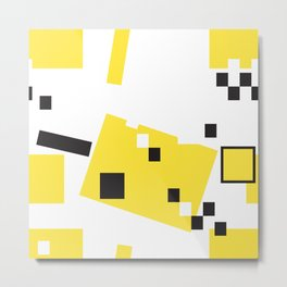 Abstract Yellow Taxi Cab Metal Print