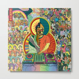 Life of Buddha - 7. Enlightenment and teaching  Metal Print