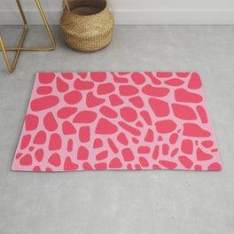 Wild Pink Organic Animal Print Pattern Rug