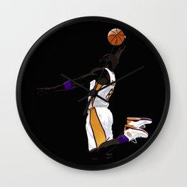 Bryant Basketball / Los Angeles Icon of the Showtime Laker / Retro / Black Mamba Wall Clock