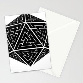 d20 Viking Valknut Odin Stationery Cards