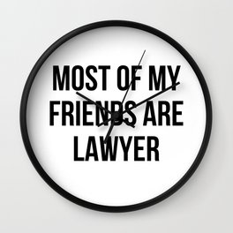 funny lawyer Wall Clock