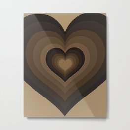 Café Heart Metal Print
