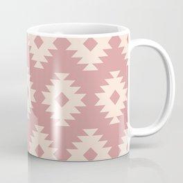 Southwestern Pattern 440 Dusty Rose and Beige Coffee Mug
