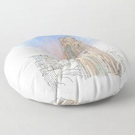 Cathedral of Learning Floor Pillow
