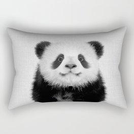 Panda Bear - Black & White Rectangular Pillow