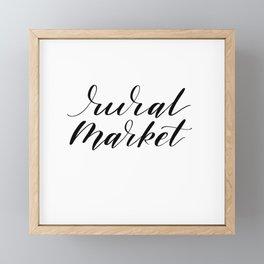 Rural Market Framed Mini Art Print