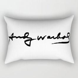 Warhol's Signature Rectangular Pillow