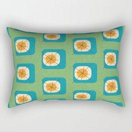 Flower Eggs Green Rectangular Pillow