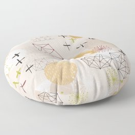 Abstract Planet Floor Pillow