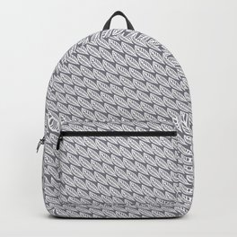 Gray & Cream Feathers Backpack
