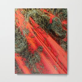 Red Mountain of Cubes Metal Print