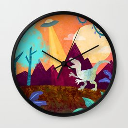 Hey Raptor Wall Clock
