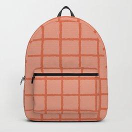 Grid Pattern in Pink Backpack