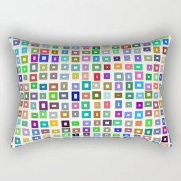 color rectangles 017 Rectangular Pillow