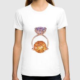 Circles on Purple T-shirt