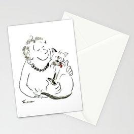 Cat Lady Love Illustration Stationery Cards