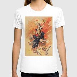 Music 1891 by Chéret Belle Epoque design T-shirt