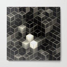 Cube City N.2 Metal Print