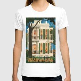 Vintage New Orleans Jazz Festival Advertisement Poster T-shirt