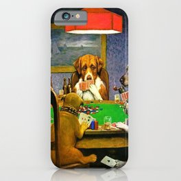 Dogs Playing Poker A Friend in Need iPhone Case