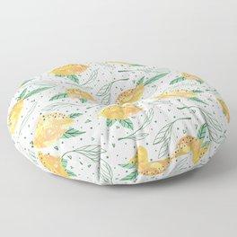 Lemonlicious Lemon Pattern Floor Pillow