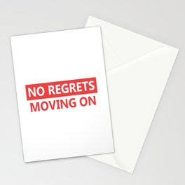 No regrets Stationery Cards