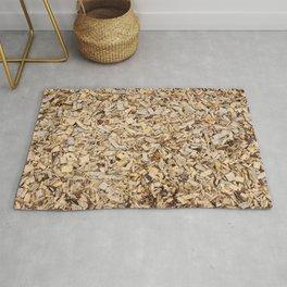 Wooden pieces carpet Rug