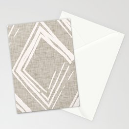 Modern Farm House Diamond Abstract Beige Stationery Cards