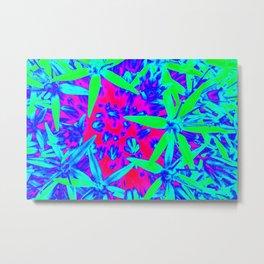 Multicolor allium flowers photo Metal Print
