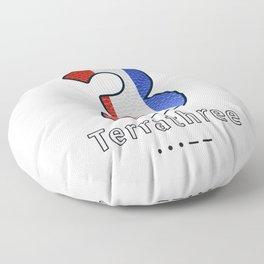Terrathree - Navy Code Floor Pillow