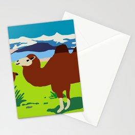 Gobi desert with camels Stationery Cards