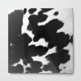 Black and White Cowhide, Cow Skin Pattern, Farmhouse Decor Metal Print