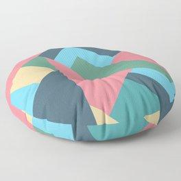 Mid Century Pastel Floor Pillow