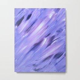 Purple Swoops Metal Print