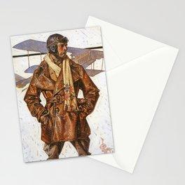 Joseph Christian Leyendecker - Air Force Pilot - Digital Remastered Edition Stationery Cards